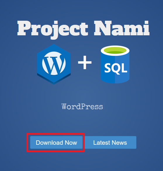 Image of projectnami.org as captured 2016-09-16